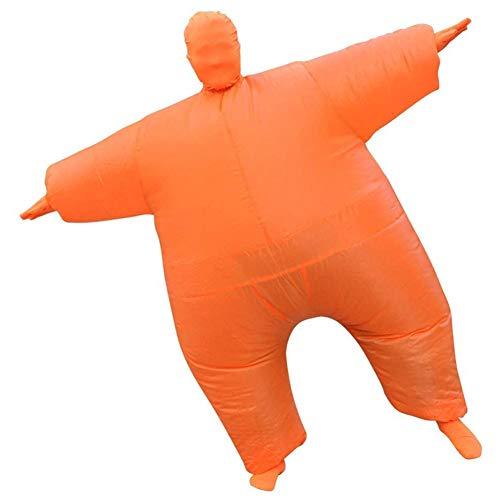 ZHANGXJ Cosplay Disfraz de Sumo Hinchable Traje de Adulto de Sumo Inflable Carnaval Cosplay Fancy Dress Disfraces Halloween Fiesta Novedad Juguetes Vspera de Todos los Santos (Color : Orange)