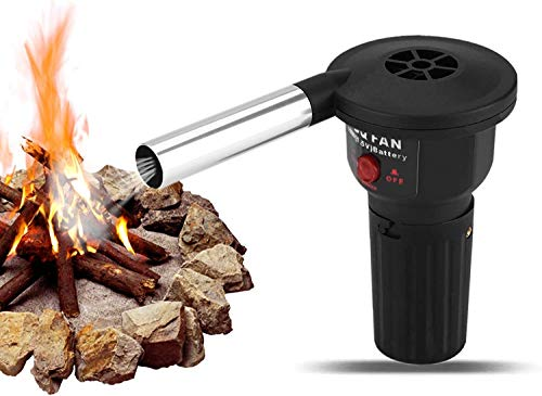 Air Blower Portable Battery Powered BBQ Fan, Blower Mighty Mini Low Noise...
