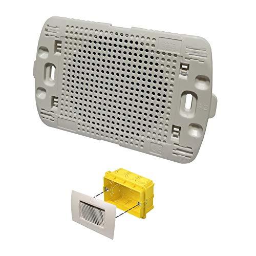 Diffusore audio sonoro da incasso per scatola cassetta 503 a parete altoparlante bianco placca living light incluso LN4703 per amplificatore