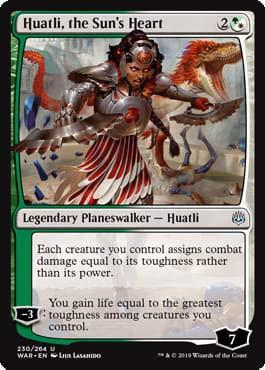 Magic: The Gathering - Huatli, The Sun's Heart - War of The Spark