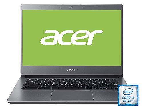 Acer Chromebook 714 Notebook (14 Zoll Full-HD IPS MultiTouch matt, Aluminium Unibody, 18mm flach, extrem lange Akkulaufzeit, schnelles WLAN, beleuchtete Tastatur, Fingerprintsensor, Google Chrome OS)