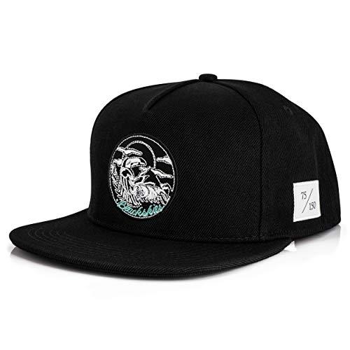 Blackskies 10th Anniversary Snapback Cap | Limitiert auf 150 STK. | Damen Herren Baseball Mütze Kappe Basecap Surfer Skater Schwarz