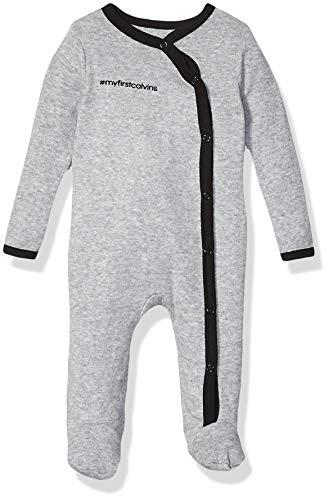 Calvin Klein Baby Bodysuit Unisex One-Piece, Multipack, Heather Grey, 0-3 Months