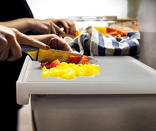 Jocca - Tabla de cortar de polietileno para cocina   Muy resistente   Patas antideslizantes   45x34x5cm   Grosor: 2,5cm