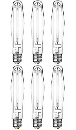 (6) Eye Hortilux 600W Super HPS Hydroponics Enhanced Spectrum Grow Light Bulbs