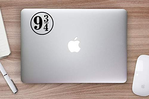 Platform 9 3/4 Laptop Decal, Vinyl Auto Sticker, Decoratieve Muursticker, Raamsticker, Glazen Sticker, 5cm wide, Meerkleurig