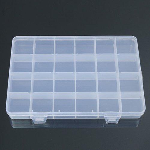 bodhi200024compartimentos manualidades caja de almacenamiento de plástico joyería cuentas organizador caja contenedor