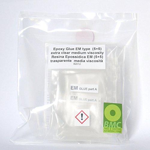 Resina Super Transparant type EM in monodische zakken 5 + 5 voor marmer en graniet