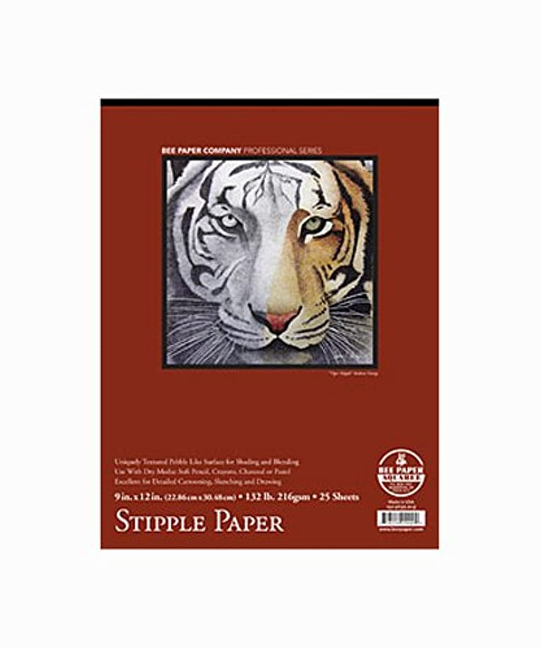 Bee Paper Coquille Fine Stipple Paper Pad, 9 X 12 inches, 130 lb. 25 Sheets (BEE-1013T25-912)