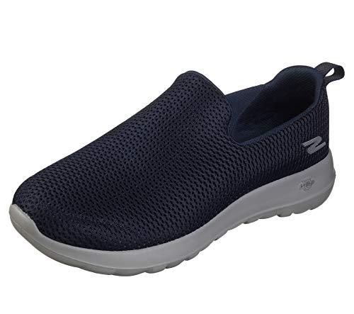 Skechers Men's Go Walk Max-Athletic Air Mesh Slip on Walkking Shoe Sneaker,Navy/Gray,9 X-Wide US