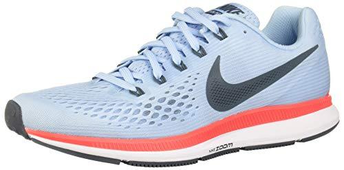 Nike Air Zoom Pegasus 34, Scarpe Running Uomo, Blu (Bleuglacé/cramoisibrillant/Blanc/renardbleu), 41 EU