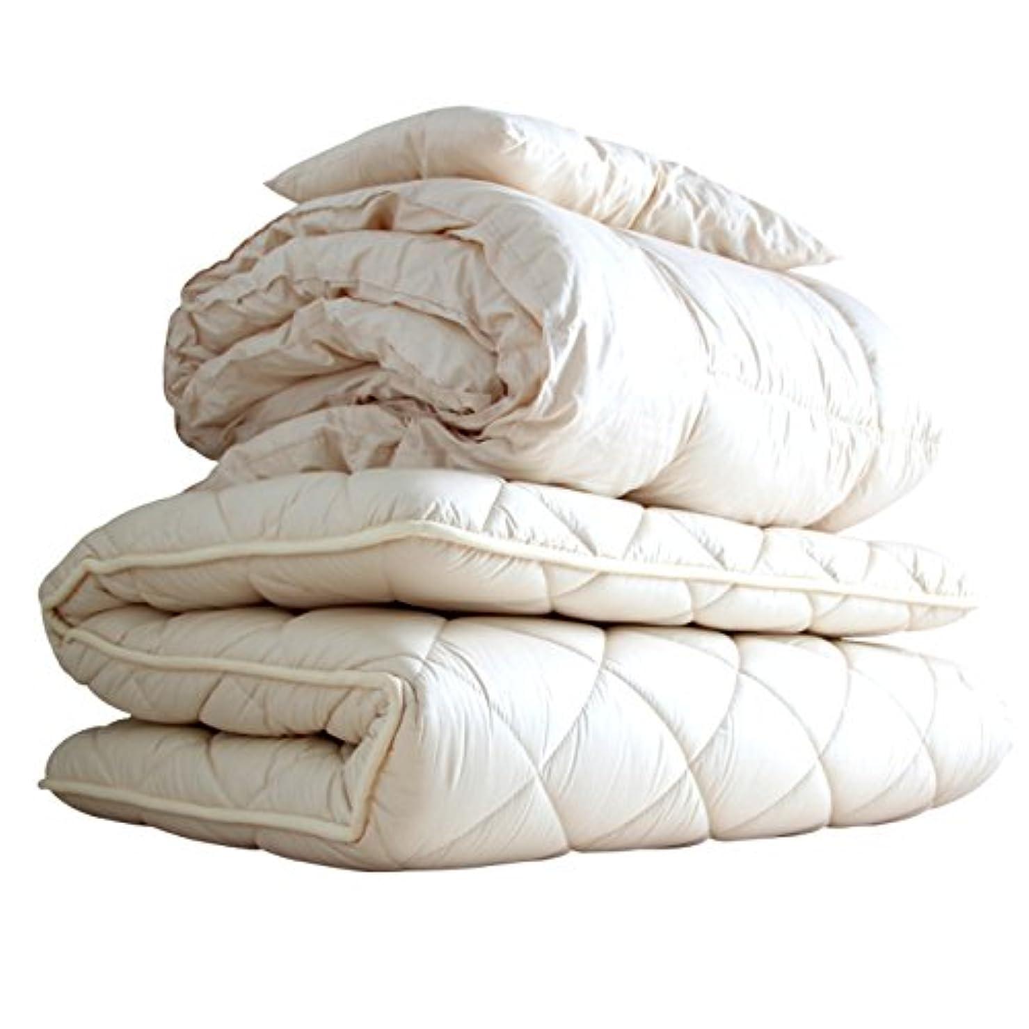 時々時々保有者判読できないAPHRODITA(アプロディーテ) 寧々(NENE) 布団セット 3点セット(掛け布団 敷き布団 枕) セミダブル 防ダニ 超ボリュームタイプ 綿100% 日本製