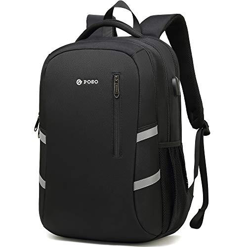 BISON SPIRIT Praktisch Schulrucksack Unisex Rucksack Outdoor Freizeit Schultaschen mit USB Ladeport