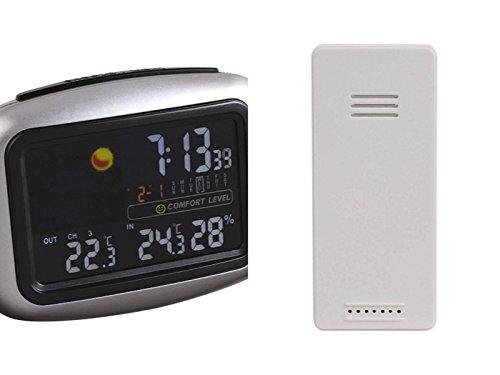 Clipsonic SL254 Station météo pour Smartphone Argent