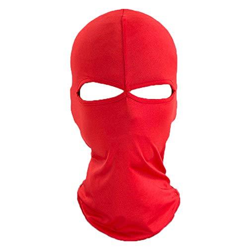 Unisex Vento Cap Moto Sci Maschere Passamontagna Sport All'aperto Ciclismo Cappello Caldo Parabrezza Maschere Cappello Rosso Taglia unica