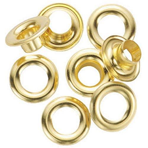 "General Tools 1261-2 Rustproof Solid Brass, 3/8-Inch 3/8"" Grommet Refill, 24 Sets"