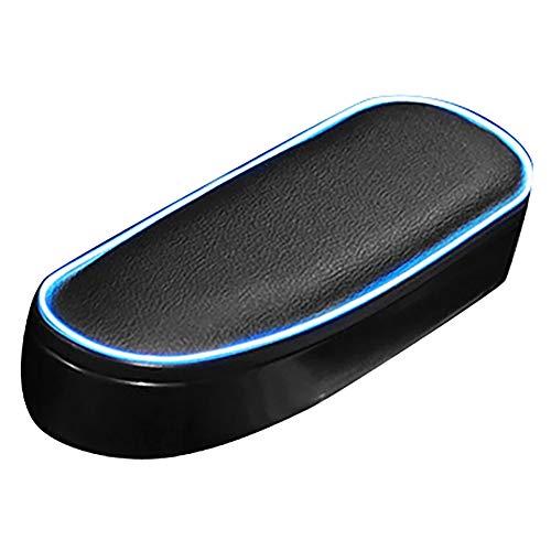 Apoyabrazos de la puerta del coche LED cuero suave soporte para codo de puerta lateral reposabrazos universal caja organizadora de almacenamiento con parte superior ajustable Cojín para reposabrazos