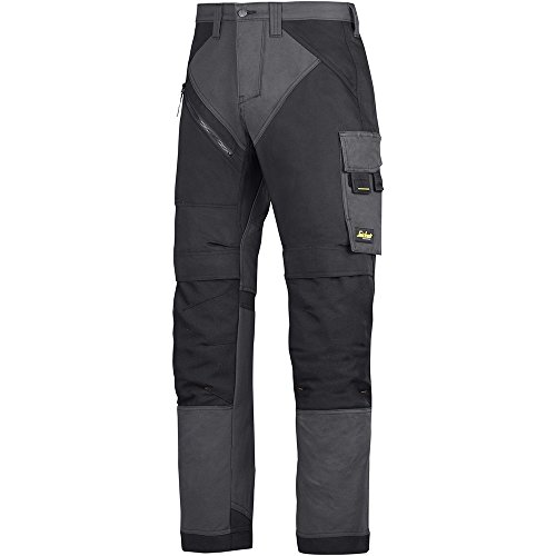 Snickers Workwear 6303 RuffWork Arbeitshose, stahlgrau-schwarz, 50