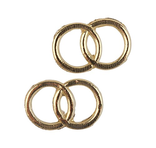 Rayher 3119606 Wachsmotiv: Eheringe, 2,5 cm ø, SB-Btl. 2 Paar, gold