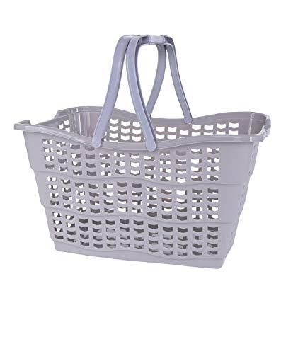 keeeper Alma Práctica cesta de la compra, Plástico resistente (PP), Urban Grau (Gris), 40 x 29 x 22,5 cm, 1 pieza