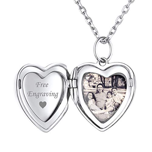 ChicSilver Silber Damen Medaillon Silber Herzform zum öffnen Mädchen Foto Box mit Geschenkebox Super Valentinstaggeschenke