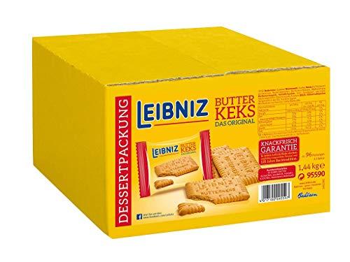 Leibniz Original Butterkeks 3er einzeln verpackt - 96er Pack - leckere Butterkekse nach Originalrezept - leckeres Dessert - Vorratkarton (96 x 15 g)