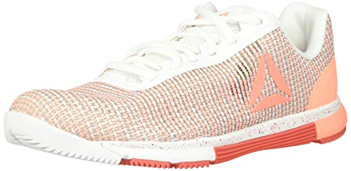 Reebok Women's Speed TR Flexweave Cross Trainer, White/Sunglow/Rosette, 9 M US