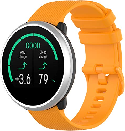 Shieranlee voor POLAR ontbranden riem, 20MM quick release Zachte Silicone Sport horlogeband voor HUAWEI, ticwatch,garmin,Galaxy Watch (42mm), Gear Sport,Gear S2 Classic, POLAR ignite, ORANJE