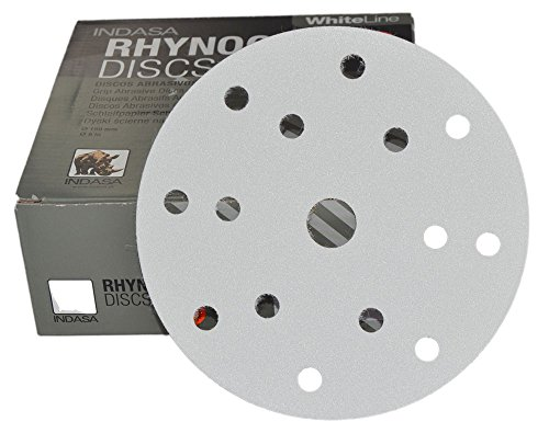 50pieza excéntrico schleifscheiben agujero de 15, diámetro 150mm–White Line–grano 40–600