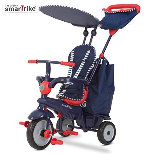 SMARTRIKE - Triciclo Shine, Color Azul y Rojo