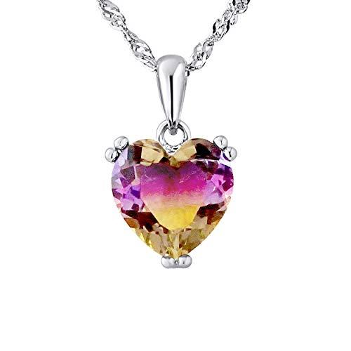 Essens - Halskette Hertz - Prestige Schmuck - Echter Kristall - Sterling Silber 925 Tausendstel - Damen Schmuck