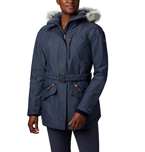 Columbia Carson Pass II Chaqueta Impermeable, Mujer, Azul (Nocturnal), S