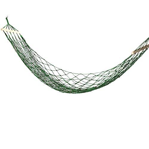 Hamacas de nailon tejido de 270 x 100 cm, hamaca para personas individuales, columpio, camping, viajes, jardín, carga máxima: 150 kg, para acampar al aire libre (tamaño: 270 x 100 cm; color: verde)