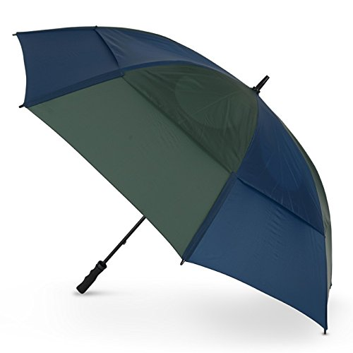 GustBuster Pro Golf Gold Series Double Canopy Golf Paraplu Marine/Jager Groen