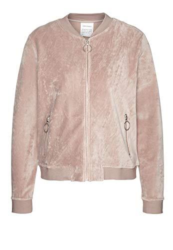 ARMEDANGELS Damen Sweatblouson aus Bio-Baumwolle - Maya - M Dusty Pink 85% Baumwolle (Bio), 15% Polyester (recycelt) Sweat Jacke