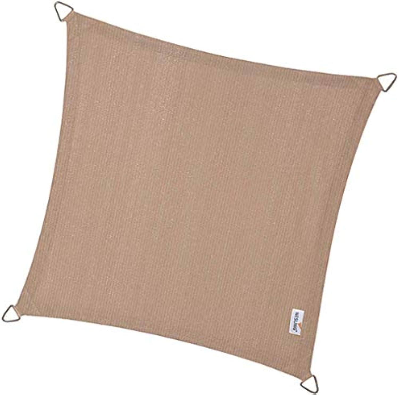 Coolfit Sonnensegel Quadrat 3,6 m sand