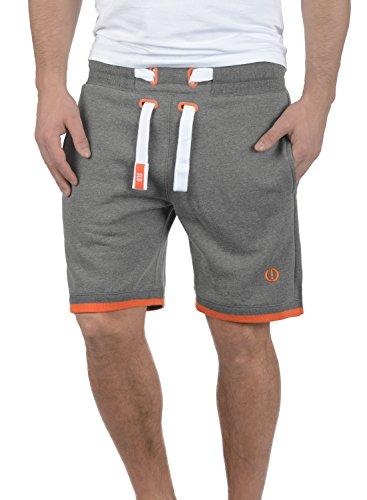 !Solid BenjaminShorts Herren Sweatshorts Kurze Hose Jogginghose Mit Fleece-Innenseite Und Kordel Regular Fit, Größe:M, Farbe:Grey Melange (8236)