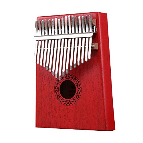 Redcolourful 17 Key Kalimba Thumb Piano Kids Erwachsene Körpermusik Finger Percussion Keyboard rot