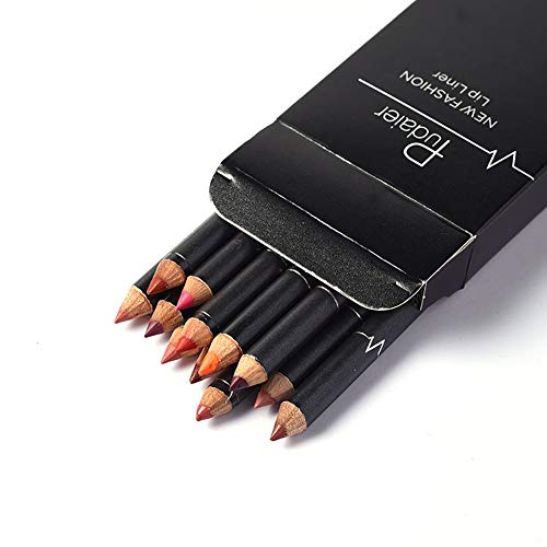 12 Colors Professional Lipliner Set Makeup Lipstick Waterproof Matte Lip Liner Pencil Set