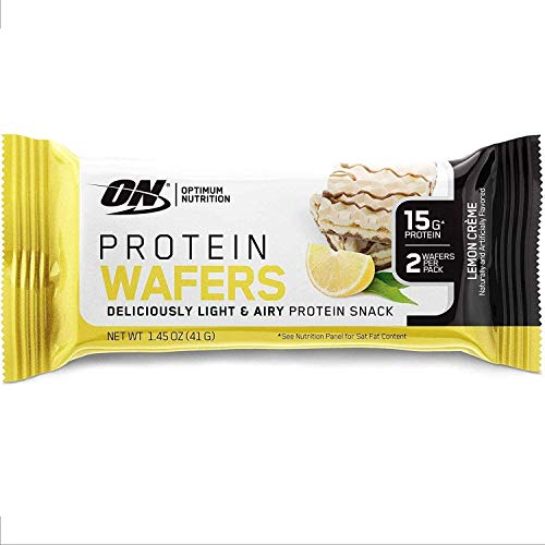 Optimum Nutrition New! Optimum Nutrition Protein Wafer Bars, Low Sugar, Low Fat, Flavor: Lemon Cream, 9 Count