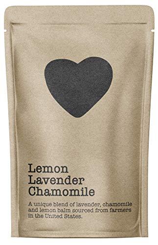 Lemon Lavender Chamomile, 15-20 Servings, Eco-Conscious Zip Pouch, Caffeine Free, Pure Loose Leaf Tea Grown in America
