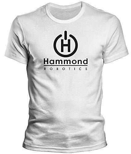 DragonHive Herren T-Shirt - Titanfall 2 Hamond Robotics Merchandise - Lustiges Fun Motiv für Männer Tshirt, Größe:S, Farbe:Weiß