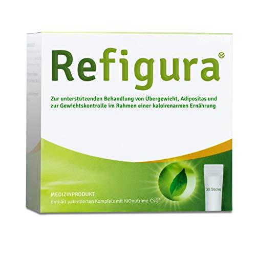 Refigura: Appetitzügler zum Abnehmen/zur Gewichtskontrolle, pflanzlich, vegan, Pulver als Sticks, 30 Stk.