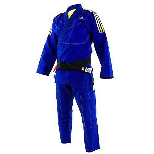 adidas BJJ 430 Contest Pearl Weave BJJ Gi/Uniforms Blue (Blue, A4)