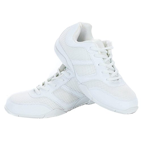 Danzcue Cheer Shoe, White, 7.5 M