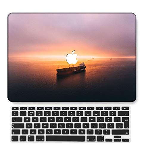 GangdaoCase Plastic Ultra Slim Light Hard Shell Case Cut Out Design Compatible New MacBook Pro 15 inch with Touch Bar/Touch ID with UK Keyboard Cover A1707/A1990 (Pink series 0599)