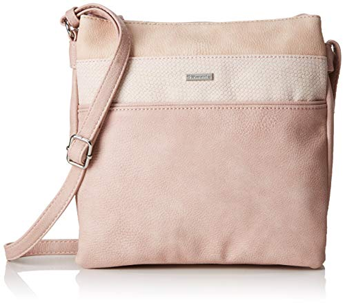 Tamaris Damen Khema Crossbody Bag M Umhängetasche, Pink (Rose Comb.), 2.5x24x25 cm