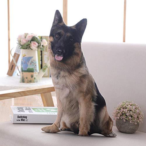 JMKHY cute plush toy 3D emulational shepherd dog spotty puppy soft cushion printing sofa pillow creative birthday gift 1pc-about_70cm_style_2