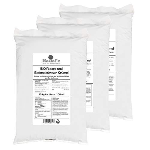 HaGaFe Bio KRÜMEL Rasenaktivator Bodenaktivator Aktivator mit Tonmineralien und Magnesiumkalk (30 kg)