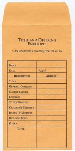 OFFERING ENV-TITHE & OFF-100PK